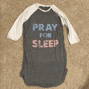 Bun Pray for Sleep nursing nightgown